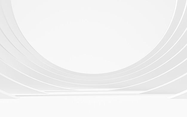추상 흰색 배경입니다. 3d 렌더링
