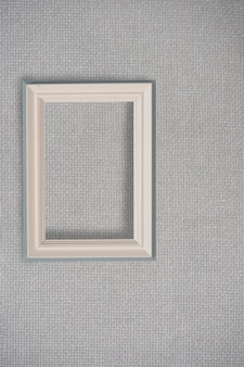 Abstract white background for design with gray canvas and frame. view from above.