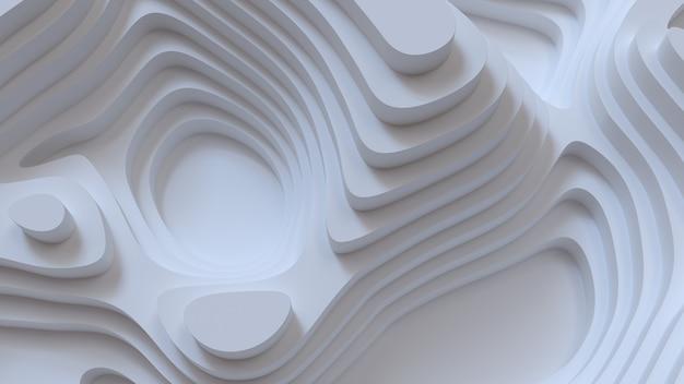 Абстрактный белый фон с рельефом топографии