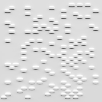Abstract white blocks, 3d rendering