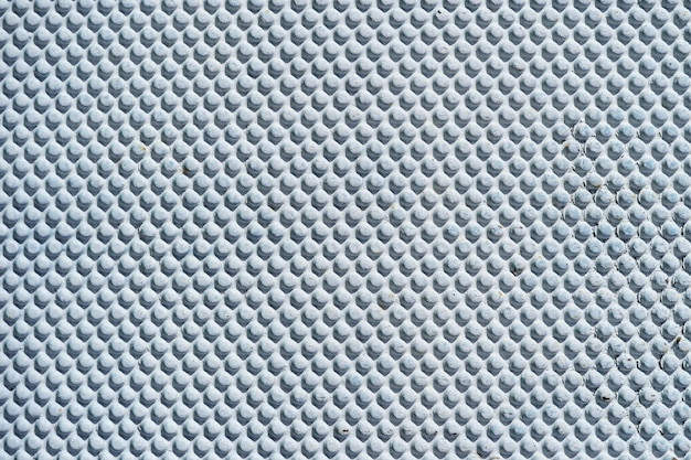 Abstract white blue metal background.