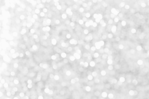 Abstract white bokeh background.