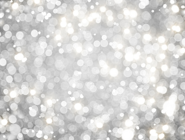 Abstract white bokeh background