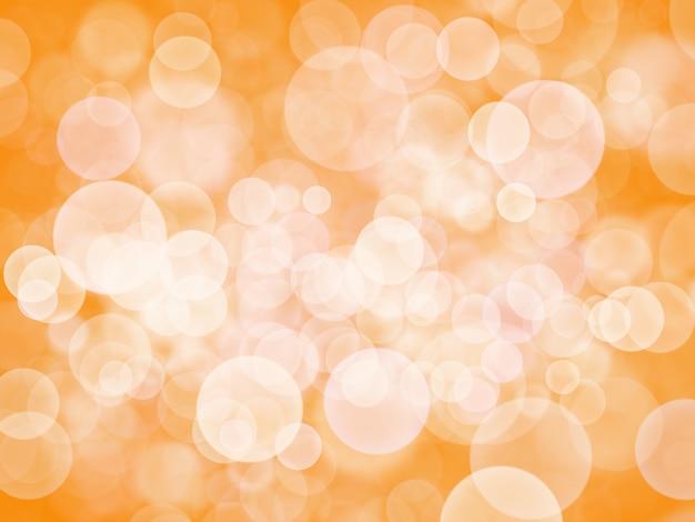 Абстрактный белый боке на оранжевом фоне