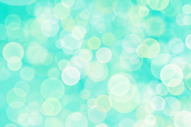 Abstract white bokeh, sky blue background color