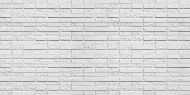 Abstract white brick wall texture background.