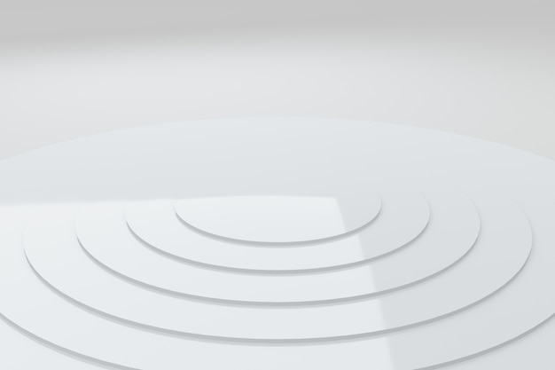 Абстрактные белые круги волна узор анимация фон 3d-рендеринг