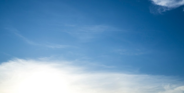 Abstract white cloud and blue sky.