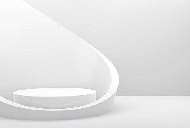 Абстрактный белый цвет геометрической формы подиум дисплей