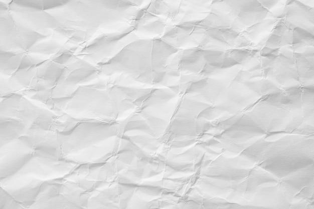 抽象的な白いしわくちゃ紙テクスチャ背景