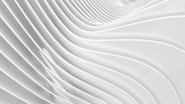 抽象的な白い湾曲した形状抽象的な背景3dイラスト