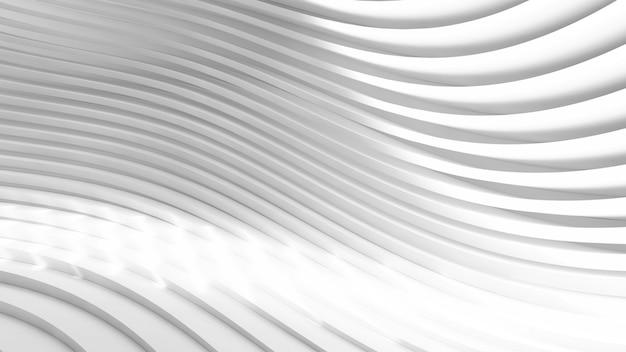 抽象的な白い湾曲した形状の背景3dイラスト