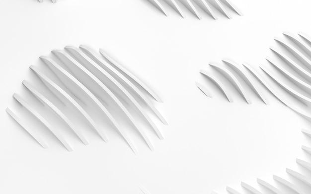 抽象的な白い湾曲した形状