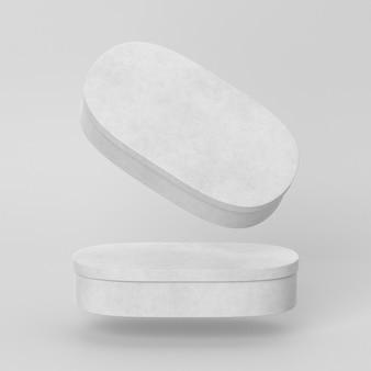 抽象的な白い空の単純な段ボール箱