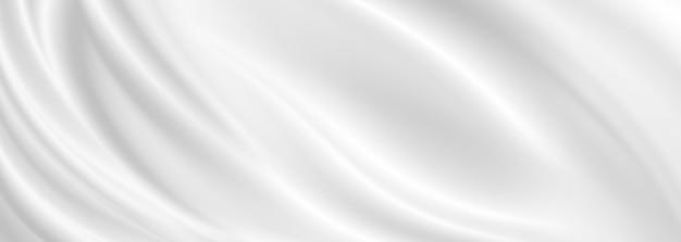 복사 공간 3d 일러스트와 함께 추상 흰색 패브릭 배경
