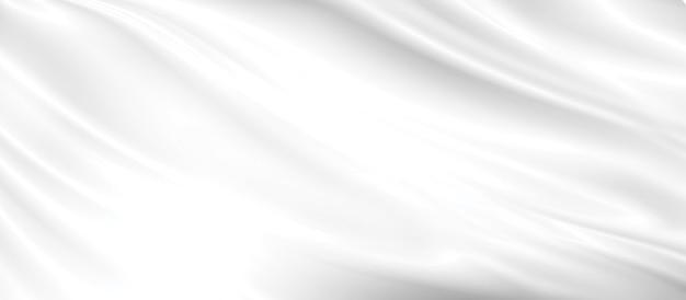 복사 공간 일러스트와 함께 추상 흰색 패브릭 배경