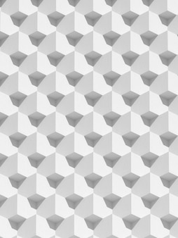 Абстрактная белая геометрическая архитектура, узор блоков, дизайн фасада современного здания. 3d-рендеринг.
