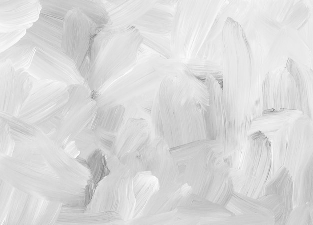 Abstract white and gray background painting. brush strokes on paper. monochrome light oil backdrop.