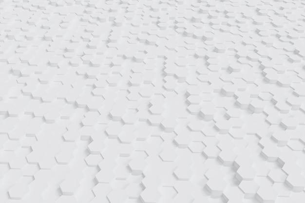 추상 흰색 육각형 배경