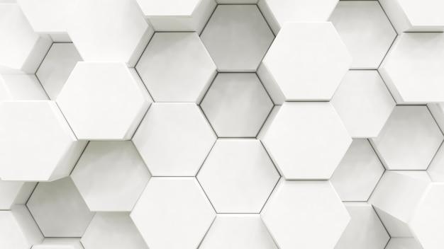 抽象的な白い六角形の背景