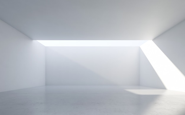 Abstract white interior. empty room with white walls.