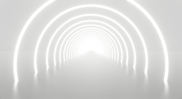 Абстрактная архитектура туннеля белого света в конце.