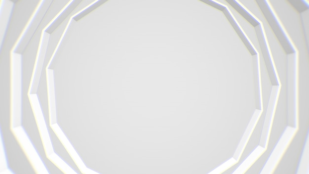 Abstract white modern frame background