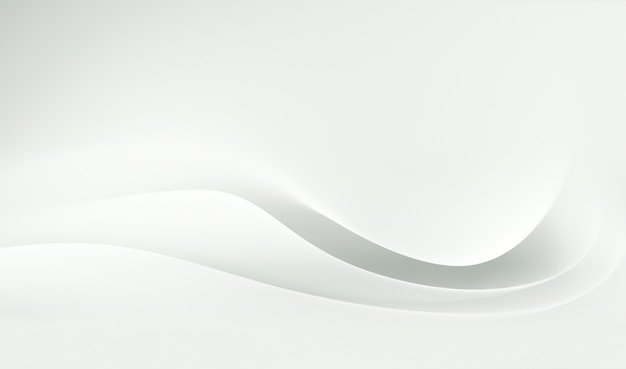 Abstract white paper background with soft wavy layers