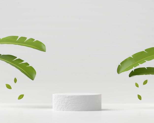 추상 흰색 연단 플랫폼 제품 디스플레이 3d 렌더링