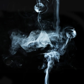 Abstract white smoke effect isolated