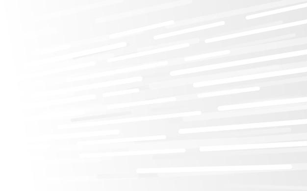 抽象ホワイトテクノロジーハイテク未来デジタル。ハイとラインは動きをスピードアップします。ベクトルイラスト