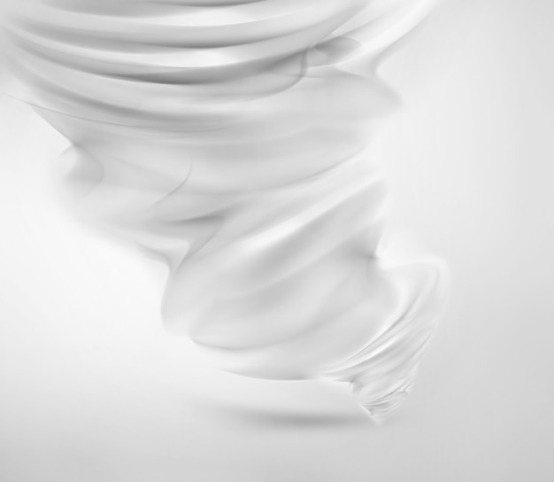Abstract white tornado on light background