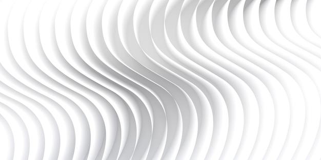 Абстрактные белые волны и узор линий. фон шаблона. 3d визуализация.