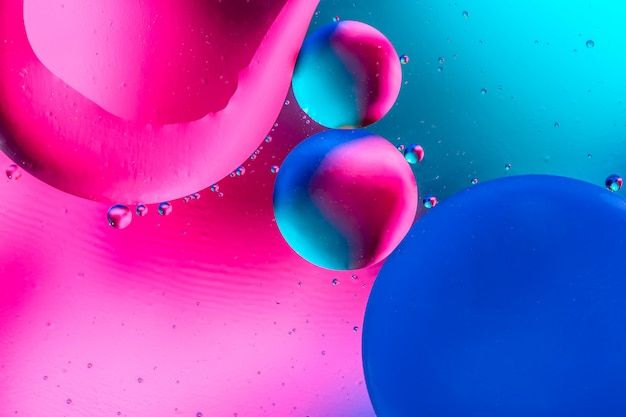 Abstract  with colorful gradient colors. oil drops in water abstract psychedelic pattern image.