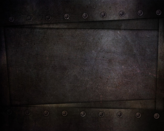 Abstract with dark grunge style textures and rivets