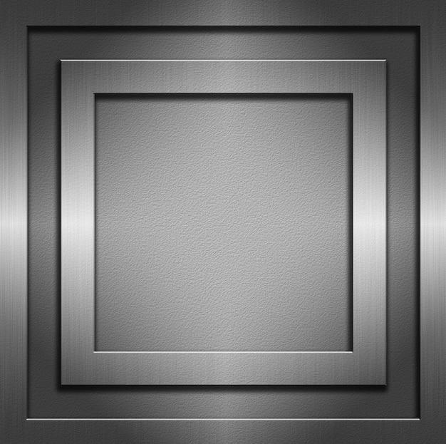 Аннотация с металлическими текстурами и рамками
