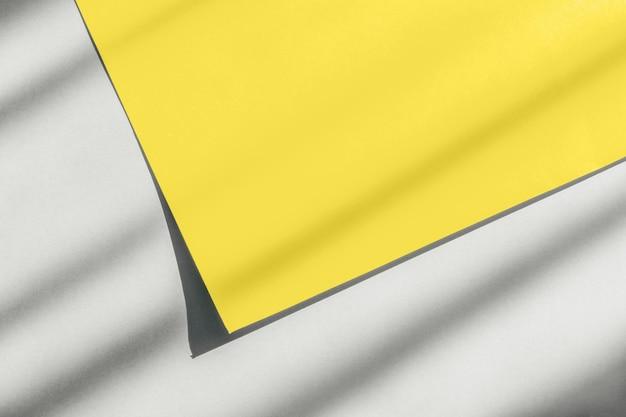 抽象的な黄色と灰色の紙