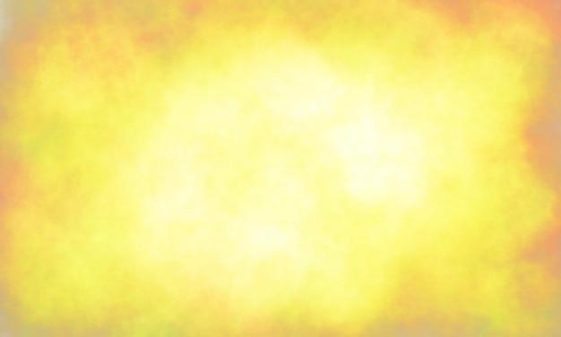抽象的な黄色の背景暖かいトーンヴィンテージ背景テクスチャ色あせたグランジスポンジデザインボーダー