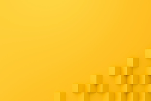 Abstract yellow background with polygon paper style.