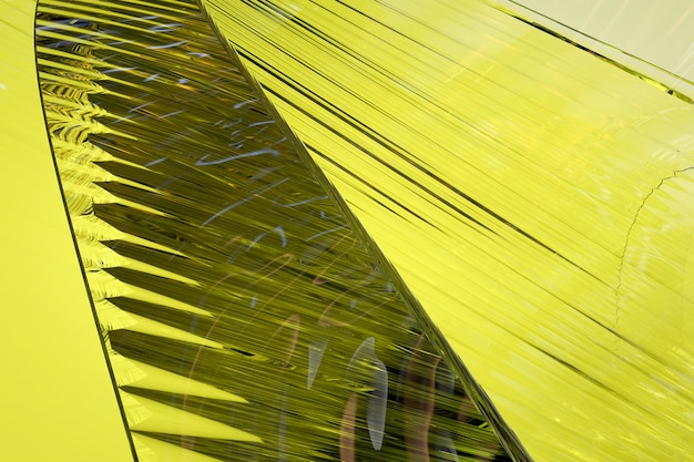 Abstract yellow glass background