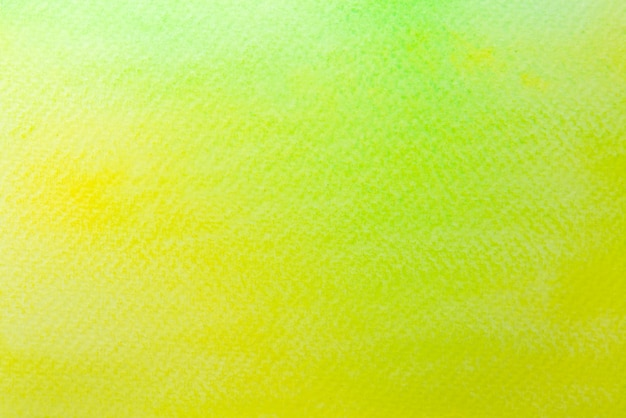 Abstract yellow and green watercolor on paper