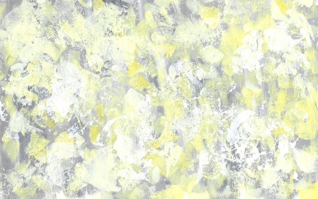 Abstract yellow and grey texture. hand drawn gouache rough background. trendy colors backdrop. brush strokes painting.