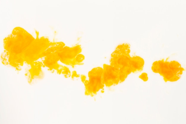 Abstract yellow and orange oil on canvas