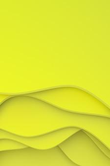 Абстрактный желтый фон вырезать из бумаги