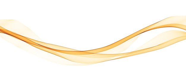 Abstract yellow smooth wave lines