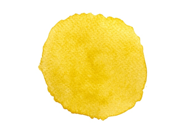 Абстрактная желтая акварель ручная роспись фона