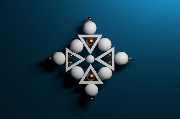 Abstract zen sacred geometric composition