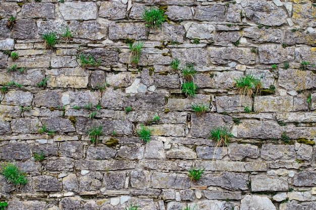 Забор стены абстракции построен из природного камня фона.