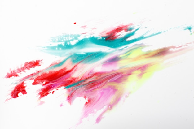 Abstractionism, creativity, modern art. abstract painting of colorful bright polar lights isolated on white background