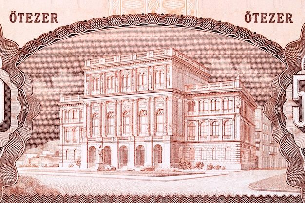 Academy of science from old hungary money  forint